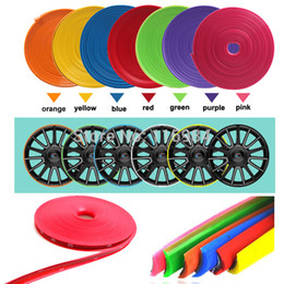 Wholesale 8meter x Universal Car Wheel Trim Alloy Wheel Arch Protector Rim Guard Adhesive Roll