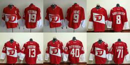 Wholesale Fatcotry Outlet Ice hockey Detroit Red Wings Gordie Howe Dylan Larkin Zetterberg Pavel Datsyuk Red Stadium Series Men s Jersey