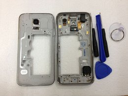 Wholesale Back Housing Panel Frame Middle Bezel For Samsung Galaxy S5 mini Housing Camera Lens Glass with free Tools