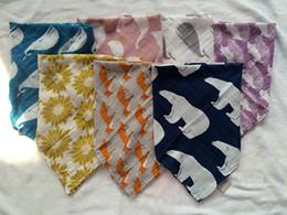 Wholesale 24 inch Baby Bibs Aden Anais Swaddle Cartoon Animal Cotton bibs Muslin BathTowel Bamboo Anais Burp Cloths colors choose CM CM