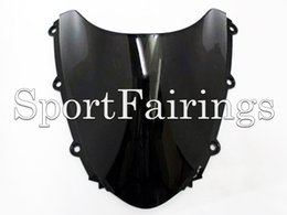 Wholesale ABS Double Bubble Tinted Black Windshield Windscreen For Honda CBR1000RR Motorcycles New