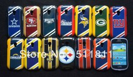 Wholesale 13 Styles American Football Team BRONCOS COWBOYS ERS Steelers CHARGERS EAGLES TPU Case For galaxy s3 mini free ship by DHL J
