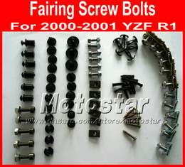 New professional Motorcycle Fairing screw bolts set for YAMAHA 2000 2001 YZFR1 YZF R1 00 01 black aftermarket fairings bolt screws parts