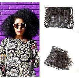 G-EASY Virgin Brazilian Hair Afro kinky Curly Clip In Extensions 120G Clip In Hair Extensions Natural Black Clip In Human Hair Extensions
