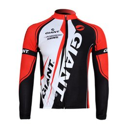 Wholesale-Autumn winter cycling jersey with fleece bicycle ride service long-sleeve male Women jersey long shirt
