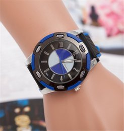 Wholesale Top brand new the latest car luxury watches bmw Car logo watches Quartz men watches for mens wristwatches