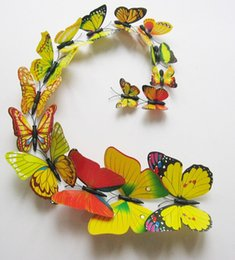 (12pcs =1set) 3D Butterfly Wall Stickers Decor Art Decorations Green Yellow Blue Pink black white rose multicolor