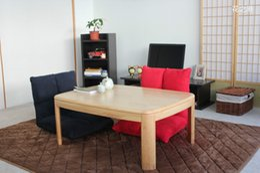 Wholesale Japanese Table Kotatsu Rectangle cm Natural Color Asian Wood Furniture Living Room Table Foot Warmer Heated Low Coffee Table Kotatsu