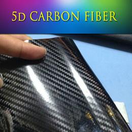 Wholesale 1 x20m x65ft Premium Super Gloss Glossy D carbon pattern D Carbon Fiber Vinyl Wrap film Sticker sheet air release