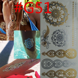 700 style Body art chain gold tattoo temporary tattoo tatoo flash tattoo metallic tattoo jewelry temporary tattoost stickers