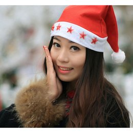 Wholesale Wholeale Fantasy Musical Flashing Santa Claus Hat Christmas Xmas Holiday Adult Unisex FTWH127