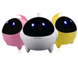 Wholesale Cute Aliens - T3 Speakers Wire Cute Alien Shape LED Light Mini Subwoofer Sound Box For Computer iPad DHL Free MIS121