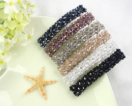Hot Selling Crystal hairpin hair accessories spring clip rhinestone hair clips for girls colorful color free shipping