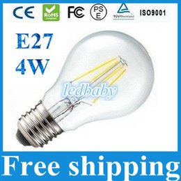 New Type Led Lamp COB Filament 4W E27 Dimmable Led Bulbs Lights 480 Lumens 360 Degree With Clear Cover AC 110-240V