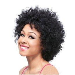 Wholesale Short black curly wig Afro African American Wigs for Black Women Synthetic Hair wigs
