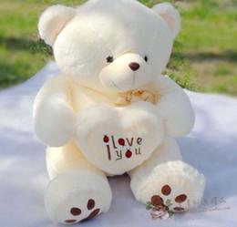 Ours saint valentin cadeau géant en Ligne-Beige Géant Big peluche Teddy Bear cadeau doux pour la Saint Valentin Anniversaire Teddy Bear Cute Bear Toys Doll Boyds Ours