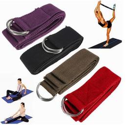 Wholesale Yoga Resistance Bands Women D Ring Yoga Stretch Strap CM Adjustable Waist Leg Fitness Belt Exercise Gym Rope Colors