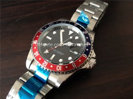 Wholesale luxury brands Mens watches automatic movement red blue bezel stainless steel band watch R12