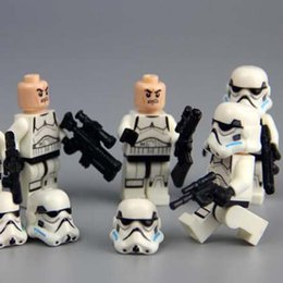 2016 POGO star wars white Shadow clone stormtroopers building blocks bricks toys children gift Compatible