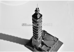 Wholesale Taipei Tower Metal DIY D decoration assembling building Architectural model Puzzle kits toys best birthday gifts presents