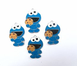 Wholesale Sesame Street Jewelry - Free Shipping Lot 20Pcs Sesame street Charms Pendants Jewelry Making Party Gifts
