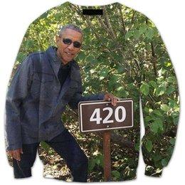 Wholesale Obama Crewneck Sweatshirts the president Obama d Sweats Women Men Fashion Clothing Harajuku Jumper Outfits Sport Tops