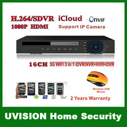 P2P icloud 16 channel DVR stand alone video recorder H.264 HDMI Output D1 Real time Recording Hybrid dvr NVR onvif 2.0 HDMI