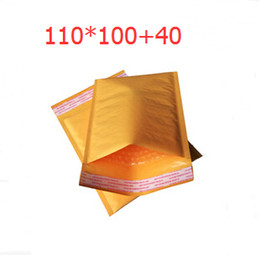 Wholesale Kraft Paper Express package envelopes Pouches with bubble wrap packaging bag packages bags Shockproof Anti damage Yellow mm