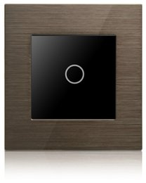 Touch Light Switch Touch Control Switch1 Gang Switch Touch Control 1 Way Gold brown Aluminium Frame