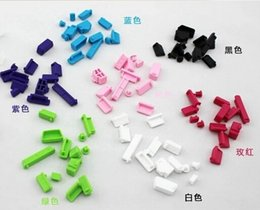 Wholesale Colorful Silicon Laptop Anti Dust Plug set USB Data Ports Cover for Macbook Air Pro Notebook Dustproof Stopper Fast Shipping