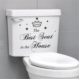 Wholesale Best Price Waterproof Fashion Seat Toilet Wall Sticker Decal Funny The Best Seat In House Art Vinyl Home Bathroom Mural Decorate
