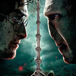 Wholesale 2016 Fashion Movie Jewelry Alloy Vinatge Harry Potter Magic Wand Pendants Necklace For Women s Men Statement necklace ZJ