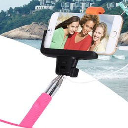Wholesale Z07 Plus Mobile Phone Selfie Monopod With Line Hand Held Cell Phone Self Timer Lever Non Bluetooth iPhone Groove Pipe Anti Rotation