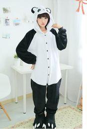Wholesale New Cosplay Adult Cute Panda Sleepwears Coral Fleece Kigurumi Pajamas Anime Pyjamas Cosplay CostumeUnisex Onesie Dress Sleepwear