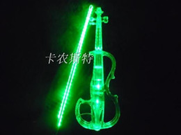 Wholesale Quality crystal electronic violin electro acoustic violin crystal led crystal lighting shoulder pad small bee