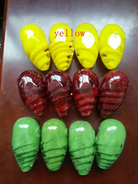 Cocoon glass spoon smoking colorful tobacco pipe length: 6.5cm