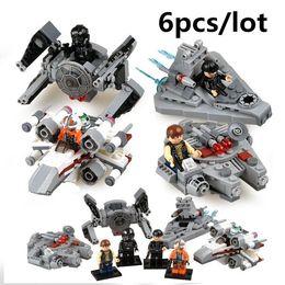 6pcs set 78085 Stars Wars warships spaceship clone wars stars wars troopers ships Building Blocks Compatible with Legoe toys