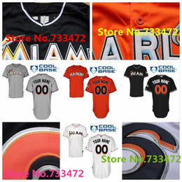 Cheap Custom Miami Marlins Baseball Jerseys Stitched Customized Any Name Any Number Personalized Jerseys Top Quality Free Shipping