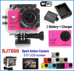 Wholesale Original SJ7000 WiFi Sport Action Camera Waterproof Diving LTPS Full HD P helmet Camera Car DVR Camcorder Extra battery Charger