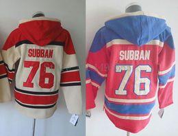 2016 New, Montreal Hockey Jersey #76 P.K. Subban Jerseys Old Time Hockey Hoodie Men's stiched Hoodies Hockey Jersey Sweatshirt