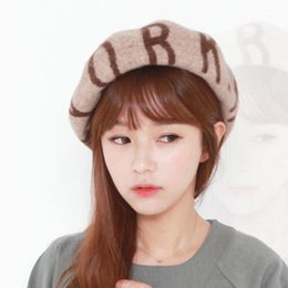 Wholesale-2015 New Arrival Autumn Letter Dome Beret Lady's Cap Party Base Cap Free shipping
