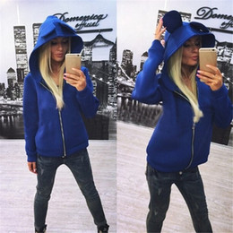2015 New Arrival Sweat à capuche pour Femme Winter Autumn Coats Pullovers Ladies Hoodies Avec Oreilles Outwear sudaderas mujer à partir de fabricateur