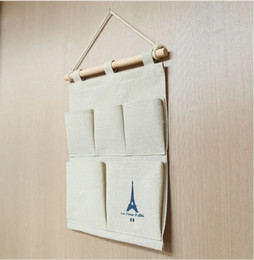 Cotton Fabric Hanging Storage Bags Hanging Wall Over the Door Organizer Tower Debris Multilayer Fabric Pouch