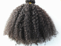 Wholesale peruvian human hair extensions pieces with clips clip in hair products hair style dark brown natural black color afro kinky curl
