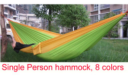 Wholesale parachute cloth single hammock tourism camping hammock survival outdoor or indoor