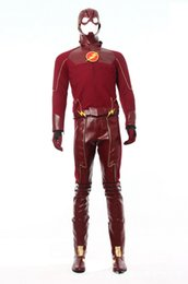 Wholesale New HOT The Flash Barry Allen Cospla Role Play cosplay cartoon show clothing apparel fabrics professional quality D stereoscopic cut custom