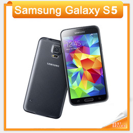 """Original Unlocked Samsung Galaxy S5 i9600 Cell Phones 5.1""""Super AMOLED Quad Core 16GB ROM Android Mobile Phone Refurbished"""