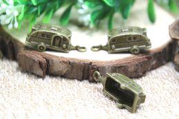 Wholesale 10pcs Camper Trailer charms Antique Bronze Travel Trailers Charm pendants x10x10mm