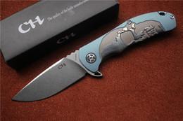 Descuento bolas de rodamiento CH 3504 cuchillo plegable S35VN cuchilla superior arandela de cojinete de bolas de titanio TC4 caza mango de camping al aire libre herramienta de la supervivencia del cuchillo del EDC