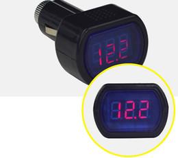 Wholesale 3432 Digital LCD Cigarette Lighter Voltage Panel Meter Monitor Car Volt Voltmeter car Truck System Battery Voltmeter